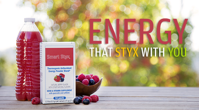 Smart Styx Natural Energy Drink Mix, with Quercetin, Green Tea, Ginkgo Biloba and Ginseng